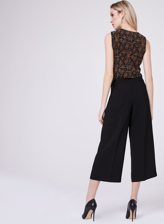 Soho Slimming Fit Culotte Pants, Black, hi-res