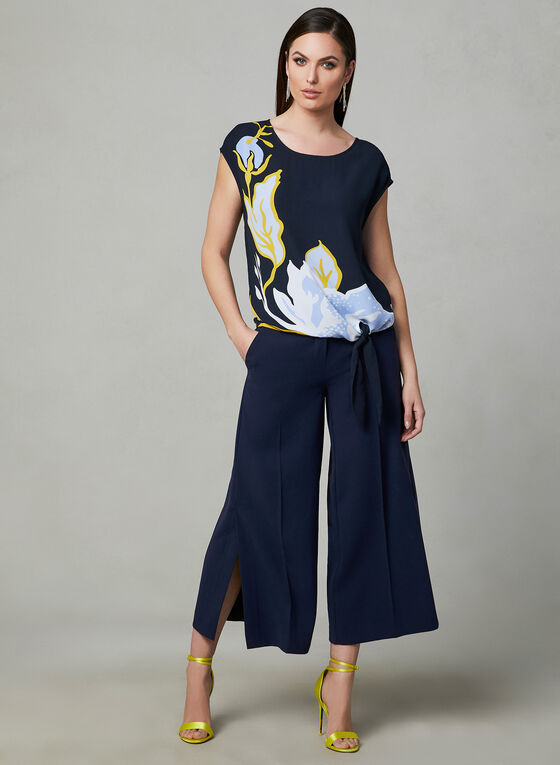 Jupe-culotte Soho à fentes, Bleu
