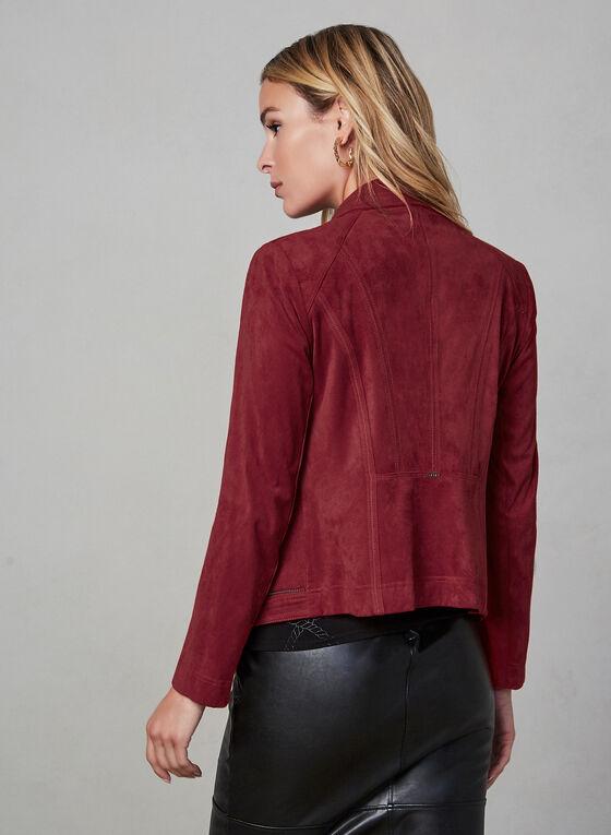 Vex - Veste à col cranté et détails zippés, Rouge