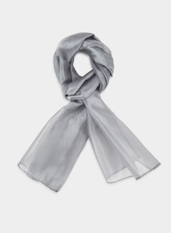 Châle en organza, Argent, hi-res,  Canada, shawl, scarf, organza, fall 2019, winter 2019