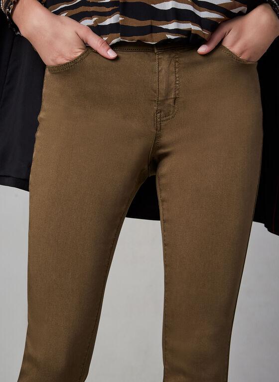 Jeans sculptant à jambe étroite, Brun