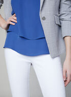 Sleeveless Crepe Top, Blue, hi-res