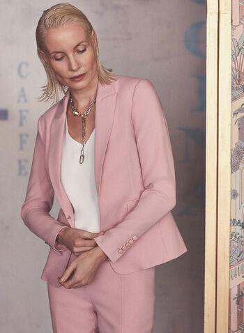 Veste à col cranté et épaulettes, Rose,  veste, col cranté, manches longues, boutons décoratifs, poches, printemps été 2021