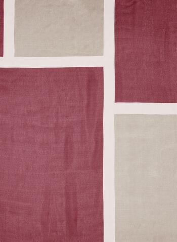 Geometric Print Scarf, Pink, hi-res
