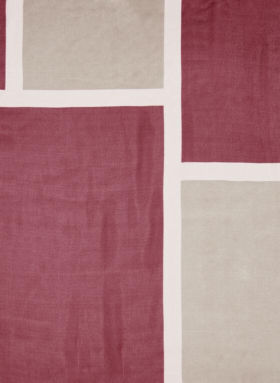 Foulard à motif géométrique, Rose, hi-res