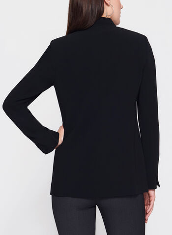 Louben - Notch Collar Blazer, Black, hi-res