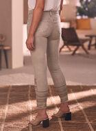 Sequin Detail Slim Leg Jeans, Off White