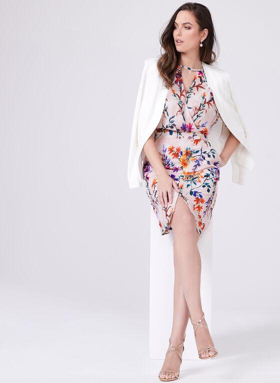 Adelyn Rae - Robe portefeuille en mousseline fleurie, Multi, hi-res