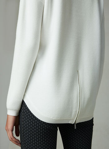 Conrad C - Ottoman Knit Turtleneck , Off White, hi-res