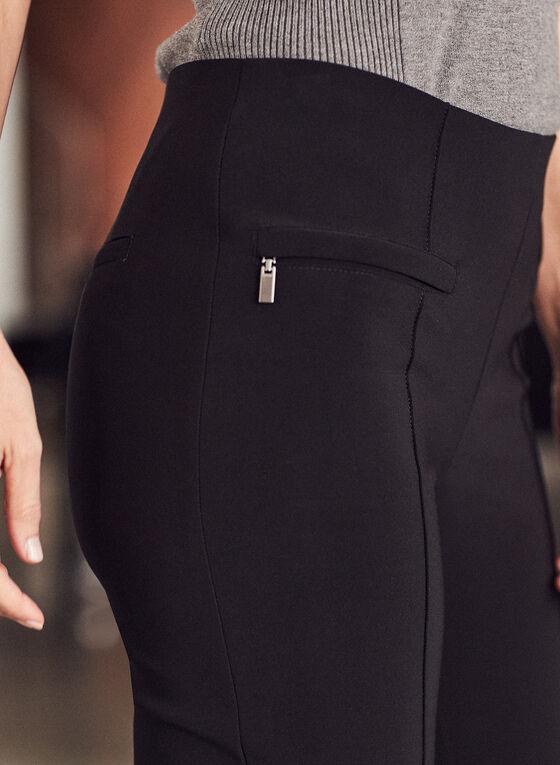 Joseph Ribkoff - Pantalon pull-on à jambe étroite et zips, Noir