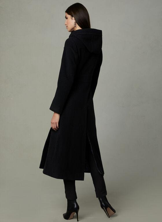 Anne Klein - Cashmere Blend Coat, Black, hi-res