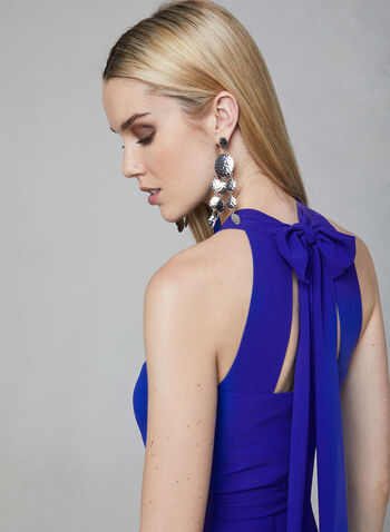 Vince Camuto - Chiffon Halter Neck Jumpsuit, Blue, hi-res,  chiffon, wide leg, sleeveless, spring 2019
