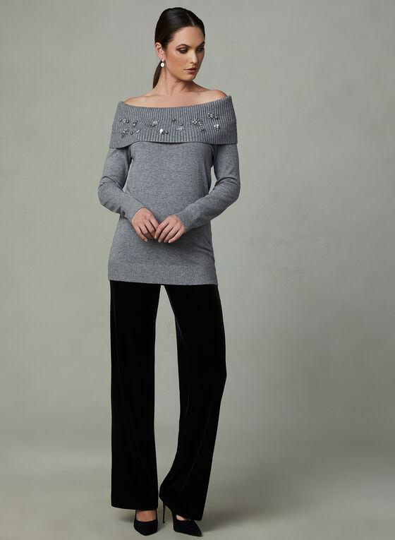 Frank Lyman - Marilyn Collar Knit Tunic, Grey, hi-res