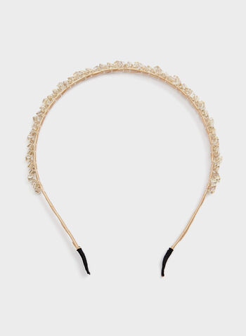 Beaded Headband, Pink, hi-res