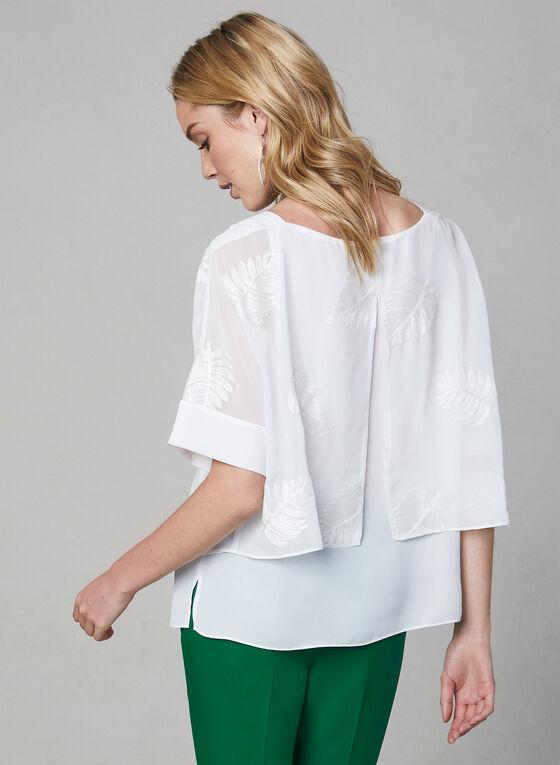 Leaf Print Top, White