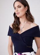 BA Nites - Off The Shoulder Fit & Flare Dress, Multi, hi-res