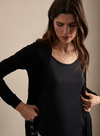 Open Front Cardigan , Black