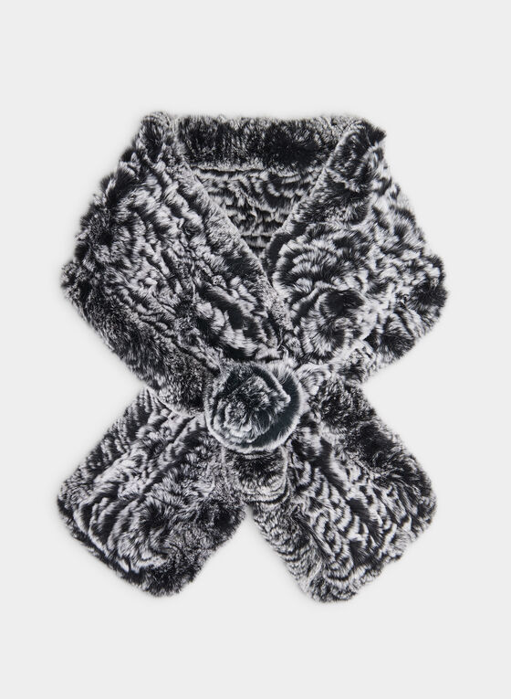 Rabbit Fur Scarf, Grey