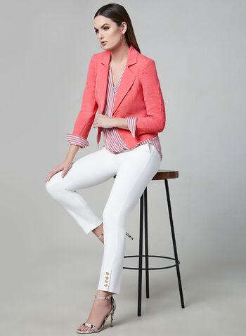 Vex - Blazer à détails zippés, Rose, hi-res,  veste, manches longues, zip, épaulettes, printemps 2019