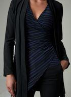 Haut drapé à rayures , Noir, hi-res