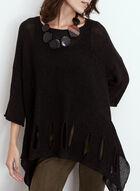 Cutout Detail Knit Tunic Sweater, Black
