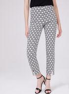 Joseph Ribkoff - Geometric Print Bengaline Pull-On Pants, White, hi-res