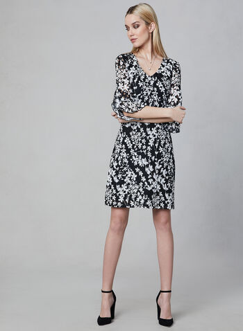 Karl Lagerfeld Paris - Floral Lace Dress, White, hi-res