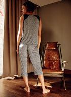 Ensemble pyjama à motif léopard et dentelle, Noir