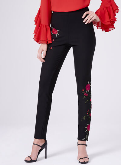 Frank Lyman - Floral Embroidered Pants