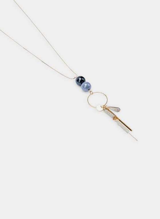 Charm Pendant Necklace, Blue