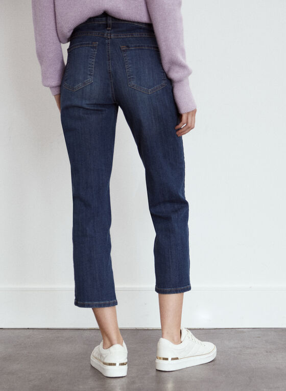 Yoga Jeans - Straight Leg Cropped Denim, Blue
