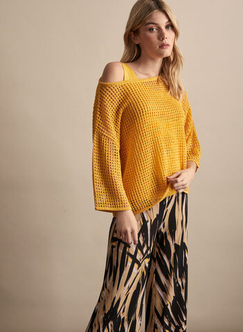 Alison Sheri - Basic Tank Top, Yellow,  spring summer 2020, scoop neck, sleeveless, jersey, basic, Alison Sheri