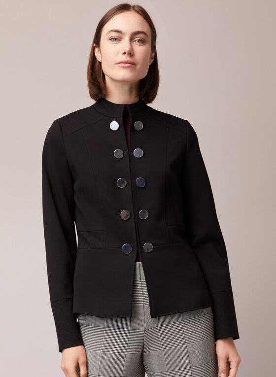 Military Style Jacket, Black
