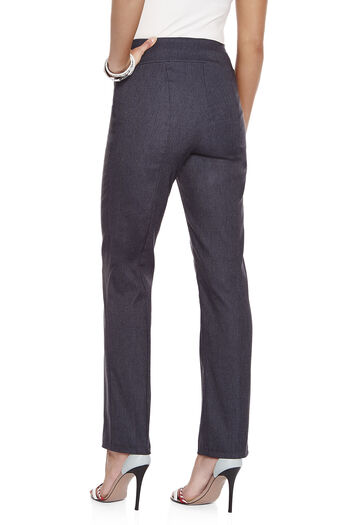Pantalon jambe droite Trisisto d'apparence denim, Bleu, hi-res