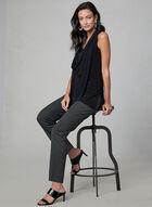 Amber Fit Slim Leg Pants, Grey, hi-res