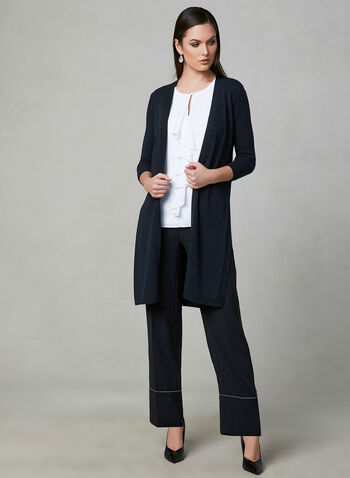 Open Front Duster, Black, hi-res
