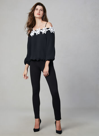 Frank Lyman – Off The Shoulder Blouse, Black,  off-the-shoulder top
