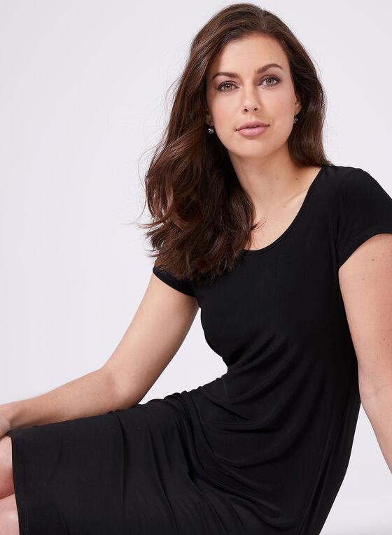 Compli K - Robe manches courtes avec ourlet asymétrique, Noir, hi-res