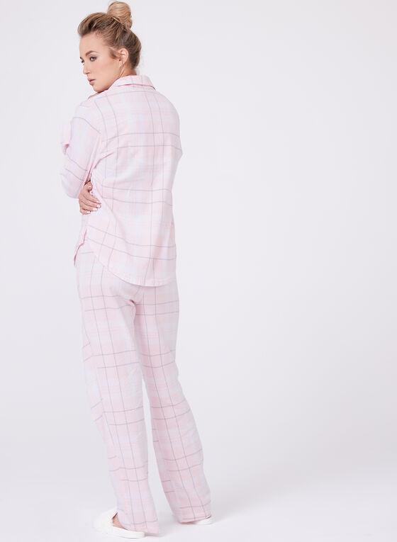 U.S. Polo Assn. - Ensemble pyjama à carreaux en flanelle, Rose, hi-res