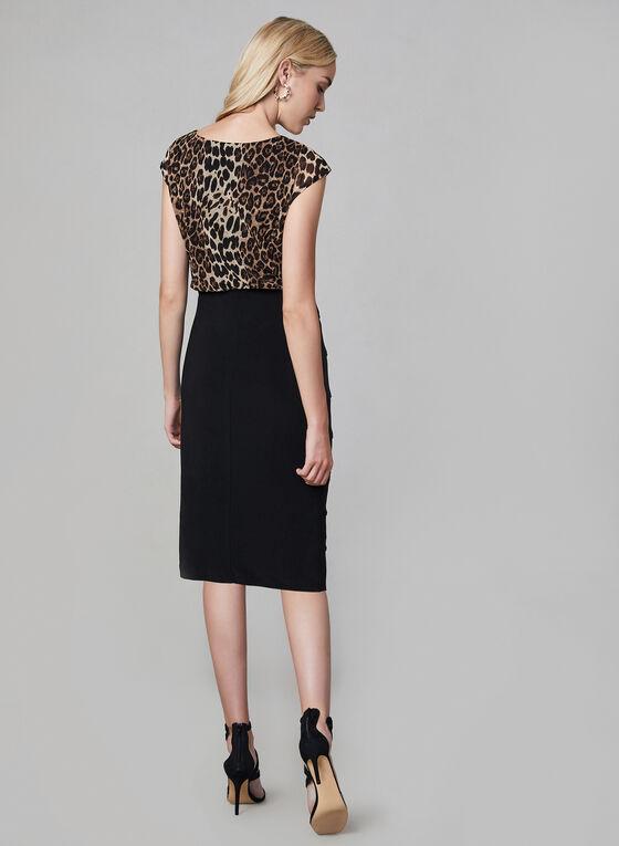 Frank Lyman - Leopard Print Dress, Black