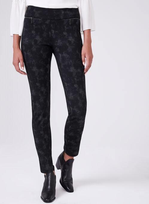 Madison Floral Print Pants, Black, hi-res
