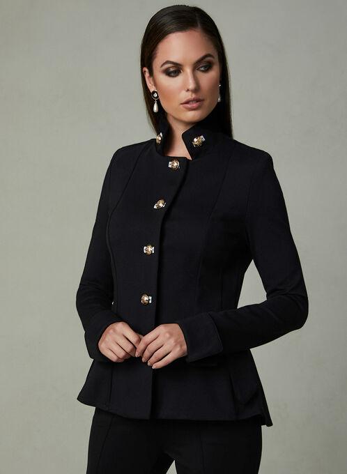 Joseph Ribkoff - Military Jacket, Black, hi-res