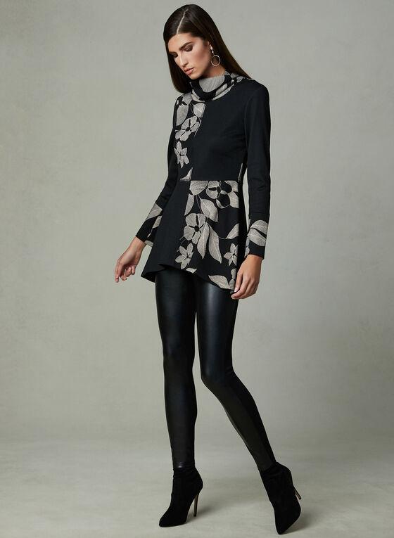 Frank Lyman - Floral Print Tunic, Black, hi-res