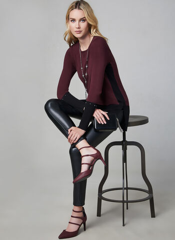 Faux Leather Pants, Black, hi-res,  vegan leather, pull-on, slim leg, fall 2019, winter 2019