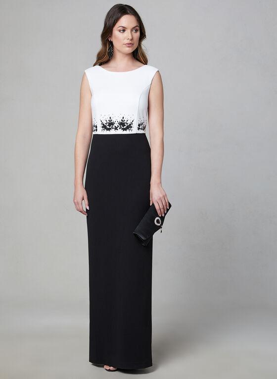 Karl Lagerfeld Paris - Beaded Detail Dress, Black, hi-res