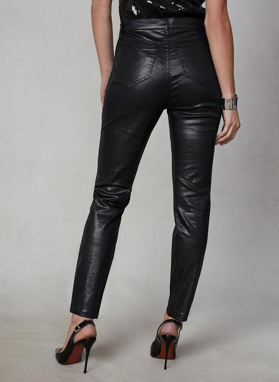 Slim Leg Faux Leather Pants , Black, hi-res