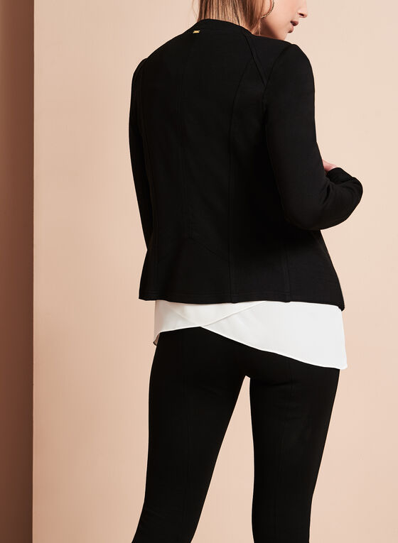 Vex Knit Cascade Jacket, Black, hi-res