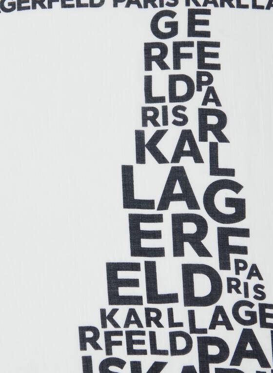 Karl Lagerfeld Paris - Foulard siglé, Noir