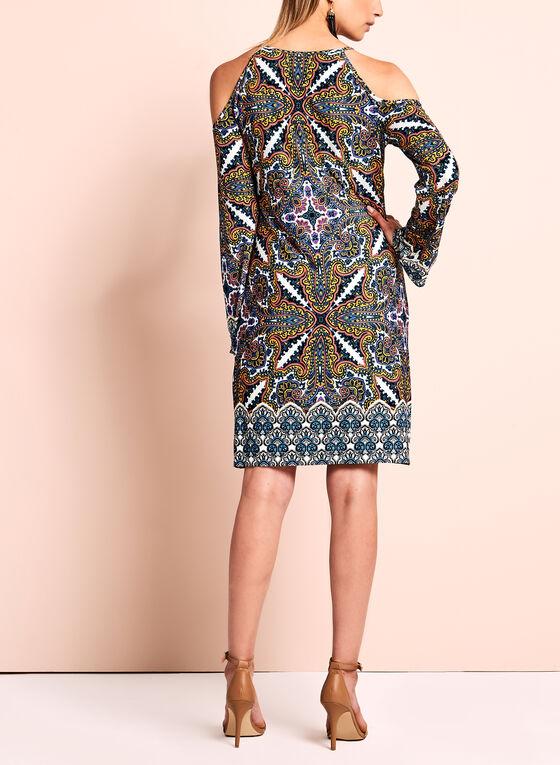 Maggy London - Printed Cold Shoulder Dress, Multi, hi-res