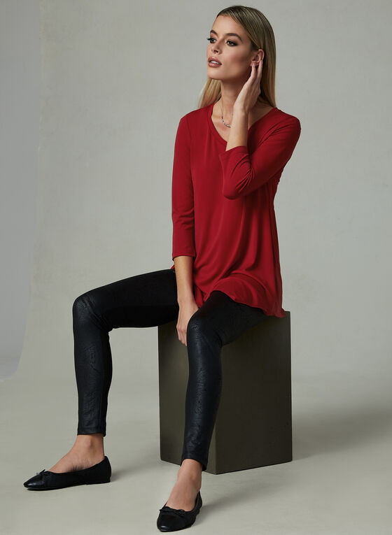 Compli K - Tunique asymétrique en jersey, Rouge, hi-res